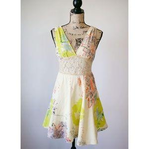 Free People Boho Smock Dress Size 8